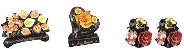 Un très grand choix de céramiques (arceaux, dessus de vases, croissant, paniers, etc …)